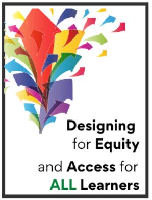 colorful arrows pointing up logo for designing for equity and access for all learners